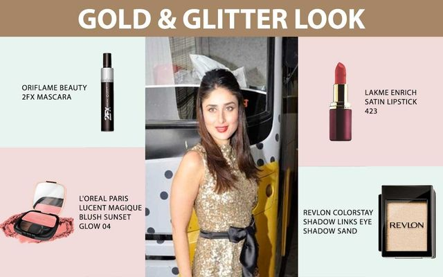 Gold And Glitter Look