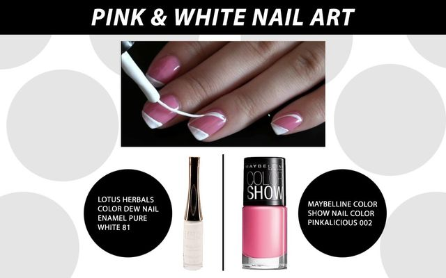 Pink & White Nail Art