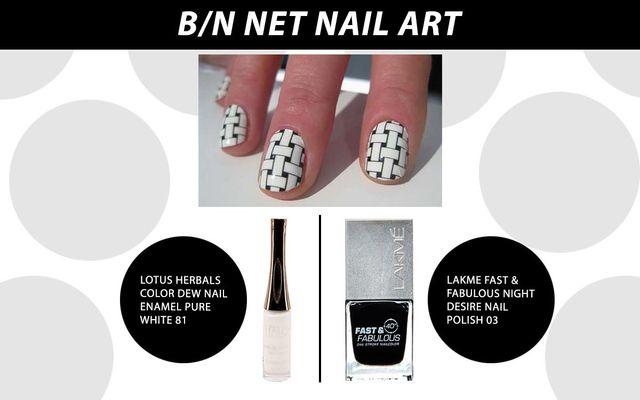 B/N Net Nail Art