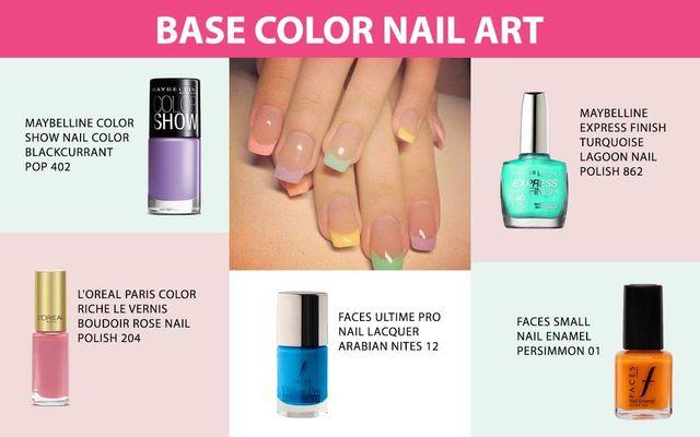 Base Color Nail Art