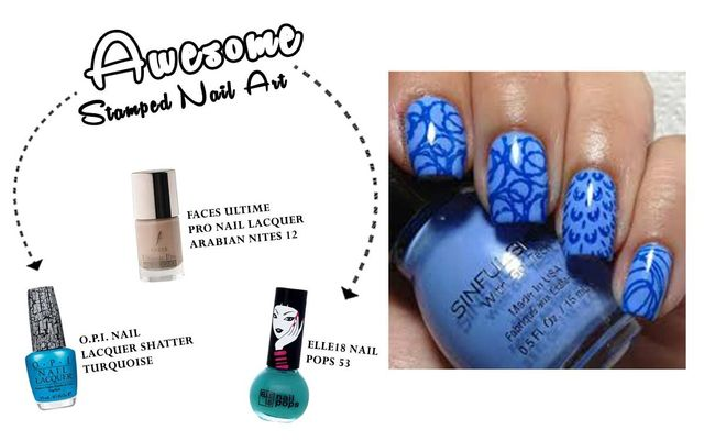 Awesome Stamped Nail Art