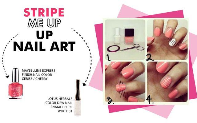 Stripe Me Up Nail Art