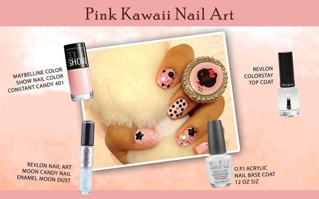 Pink Kawaii Nail Art