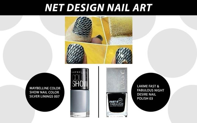 Net Design Nail Art