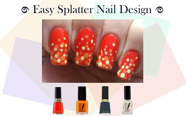 Easy Splatter Nail Art Design