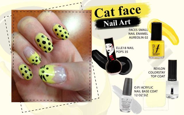 Cat Face Nail Art