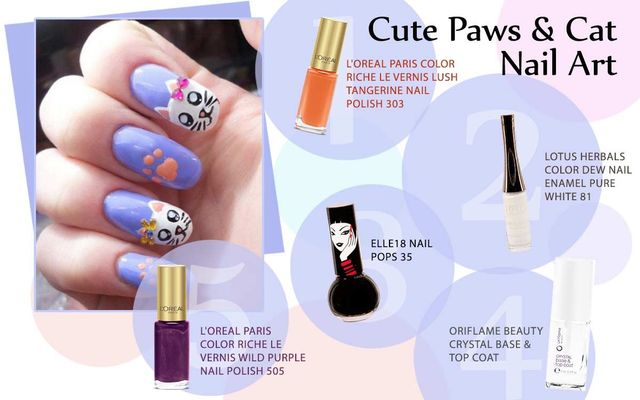 Cute Paws & Cat Nail Art