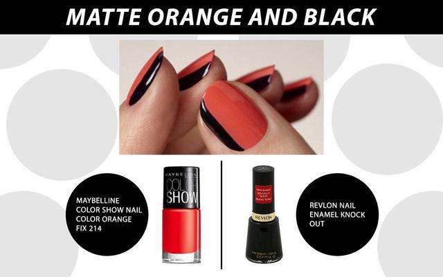 Matte Orange & Black