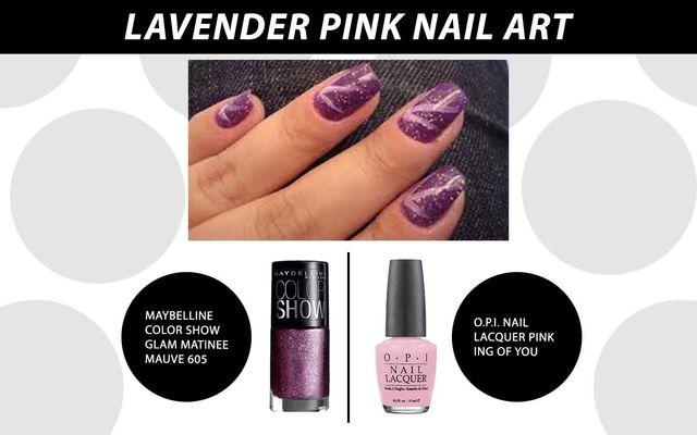 Lavender Pink Nail Art