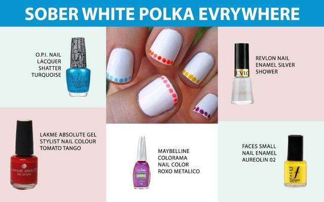 Sober White Polka Everywhere
