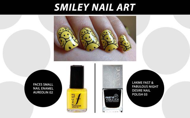 Smiley Nail Art