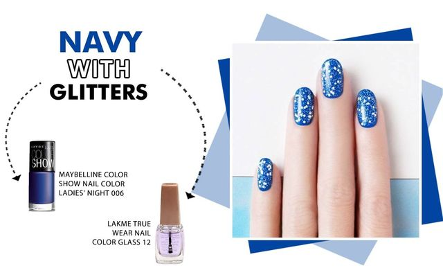 Navy With Glitters