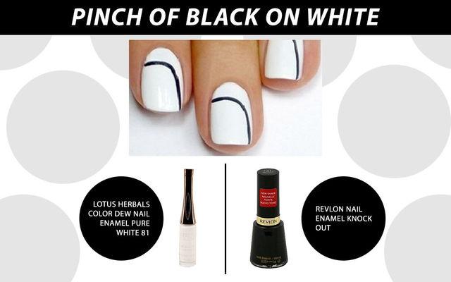 Pinch Of Black On White