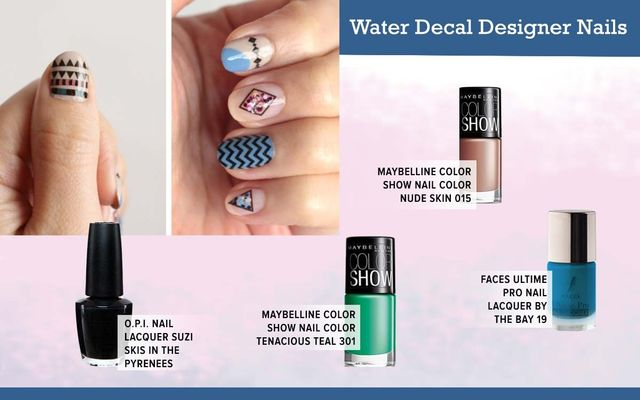 Water Decal Designer Nails