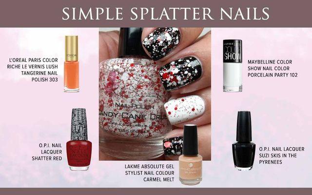 Simple Splatter Nails