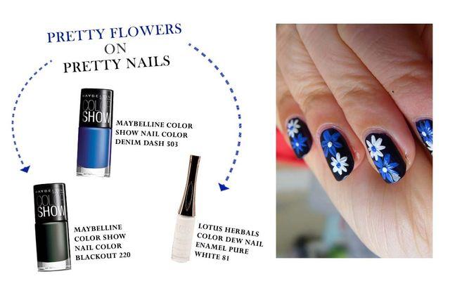Pretty Flowers On Pretty Nails