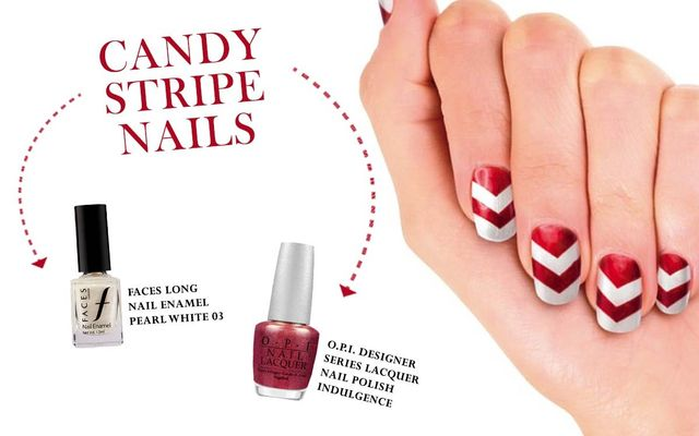 Candy Stripe Nail Art