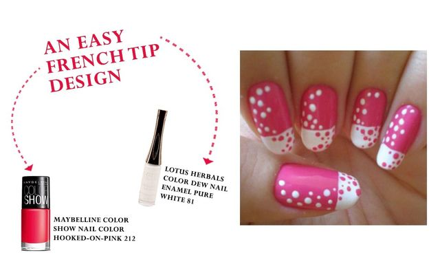 An Easy French Tip Design
