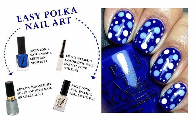 Easy Polka Nail Art