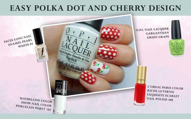 Easy Polka Dot & Cherry Design