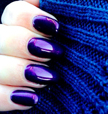 Nail Art With Purple Mystery