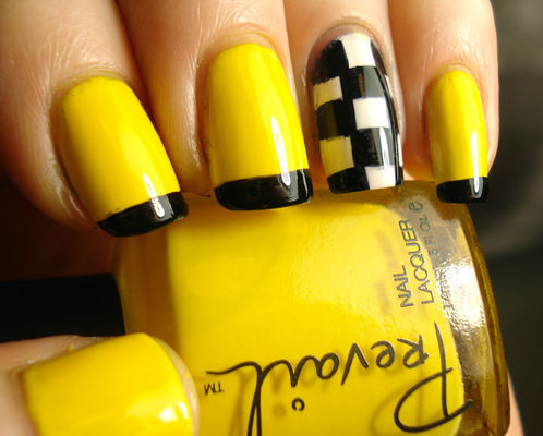 Nail Art With Yellow Passion Fruit