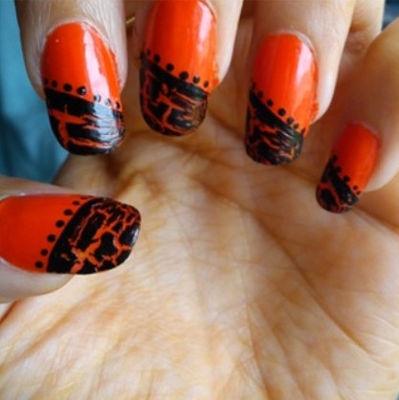 Nail Art With  Spoil Me Orange