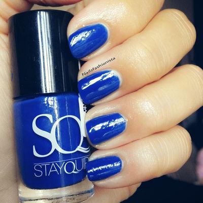 Nail Art With  Hidden Blue Secret