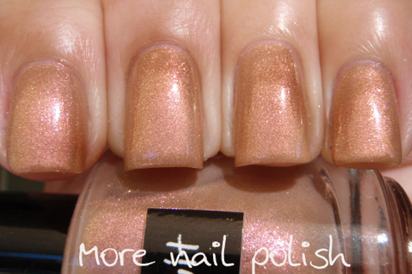 Nail Art With Brown Dream In Polish