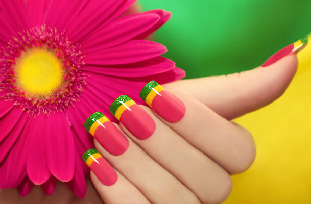 Vibrant Hues On Nails