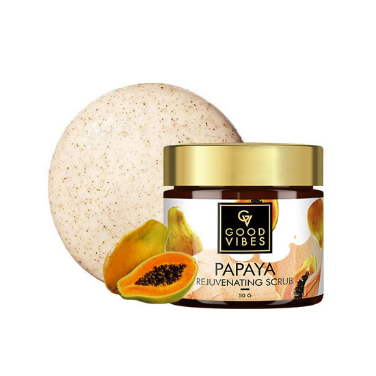 Buy Good Vibes Rejuvenating Face Scrub - Papaya (50 g)-Purplle