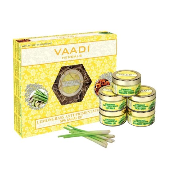 Buy Vaadi Herbals Lemongrass Anti-Pigmentation Spa Facial Kit With Cedarwood Extract (270 g)-Purplle