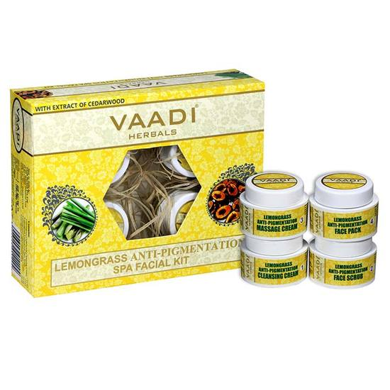 Buy Vaadi Herbals Lemongrass Anti-Pigmentation Spa Facial Kit With Cedarwood Extract (70 g)-Purplle