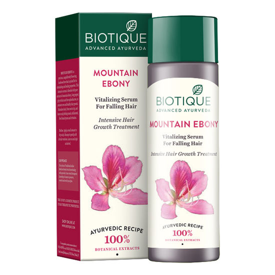 Buy Biotique Mountain Ebony Vitalizing Serum For Falling Hair (120 ml)-Purplle