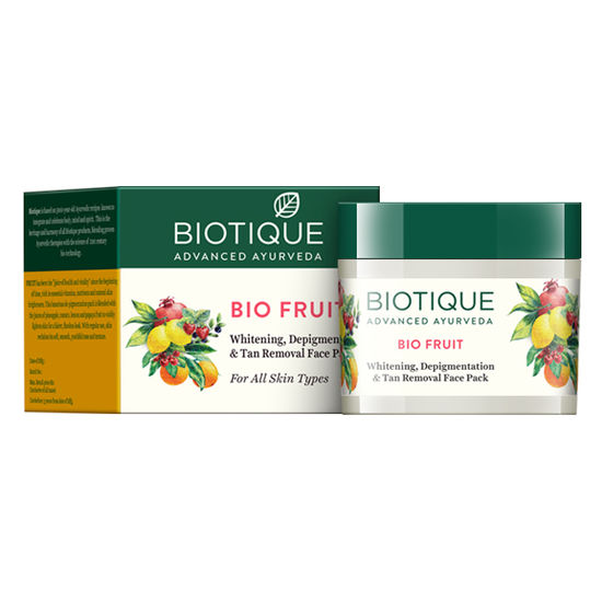 Buy Biotique Bio Fruit Whitening, Depigmentation & Tan Removal Face Pack (75 g)-Purplle
