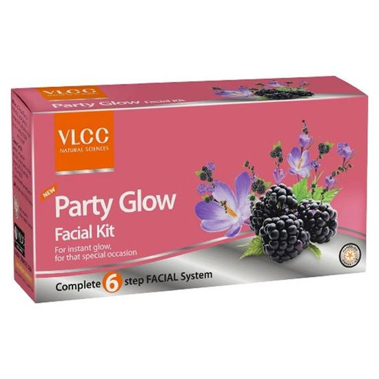 Buy VLCC Party Glow Single Facial Kit-Purplle