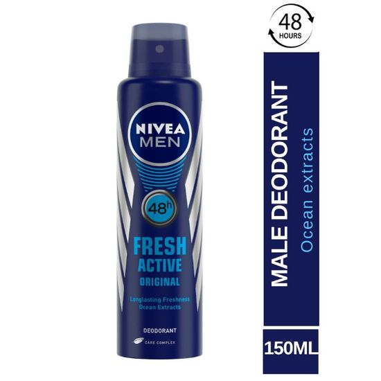 Buy Nivea Men Deodorant Fresh Active Original (150 ml)-Purplle
