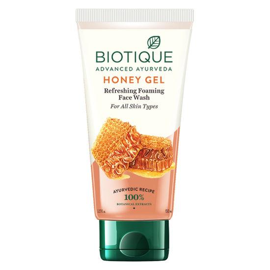 Buy Biotique Bio Honey Gel Refreshing Foaming Face Wash For All Skin Types (150 ml)-Purplle
