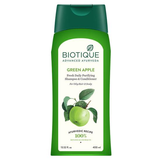 Buy Biotique Bio Green Apple Shampoo & Conditioner (400 ml)-Purplle