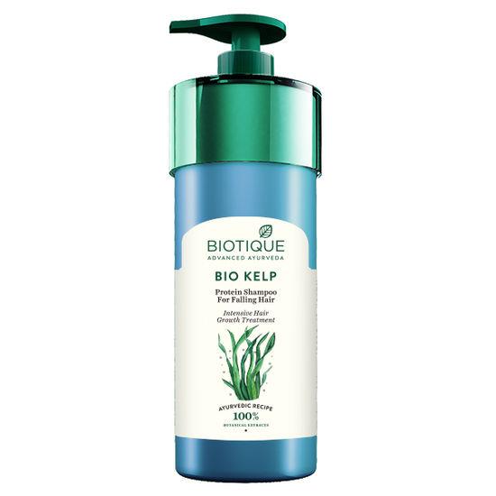 Buy Biotique Bio Kelp Protein Shampoo For Falling Hair Intensive Hair Regrowth Treatment ((800 ml))-Purplle