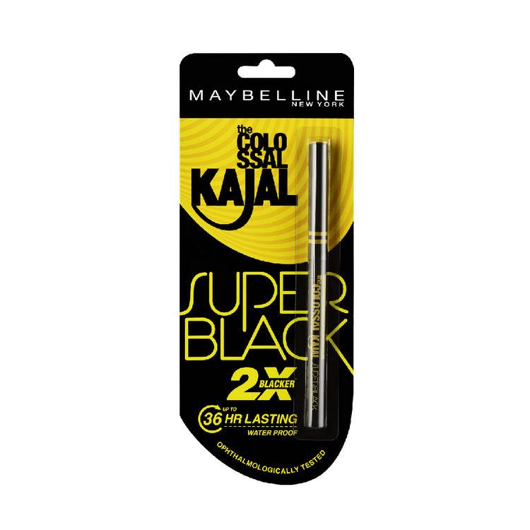 Buy Maybelline New York Colossal Kajal Super Black (0.35 g)-Purplle