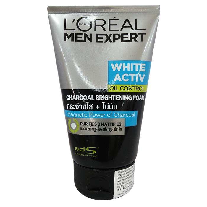 Buy L'Oreal Paris Men Expert White Activ Oil Control Charcoal Brightening Foam (100 ml)-Purplle