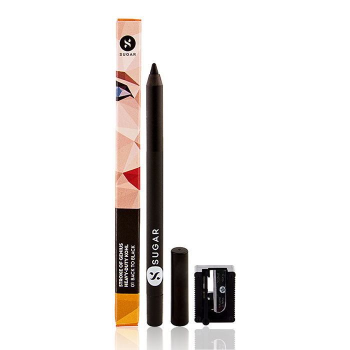 Buy SUGAR Cosmetics Stroke Of Genius Heavy Duty Kohl - 01 Back to Black (Black) With Free Sharpener-Purplle