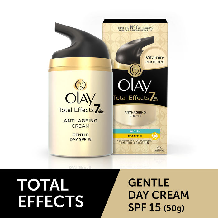 Buy Olay Total Effects Anti Ageing Cream Gentle Day Spf 15 (50 g)-Purplle