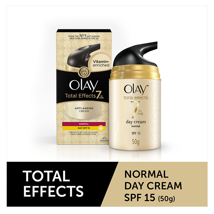 Buy Olay Total Effects 7 In 1 Anti-Aging Day Cream Normal SPF 15 (50 g)-Purplle