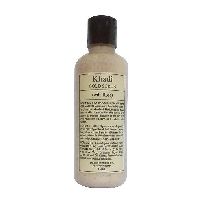 Buy Khadi Gold Scrub With Rose 210 ml-Purplle