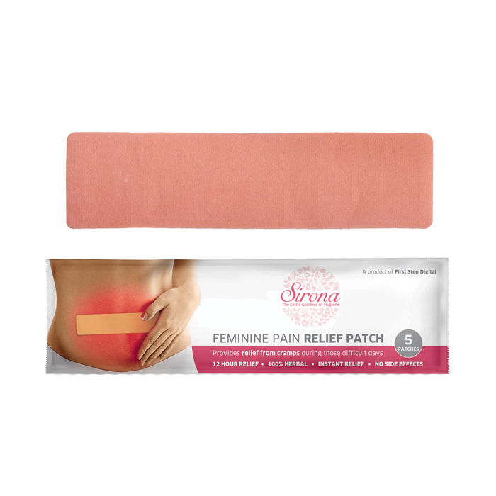 Buy Feminine Period Pain Relief Patches by SIRONA (5 Patches - 1 Pack)-Purplle