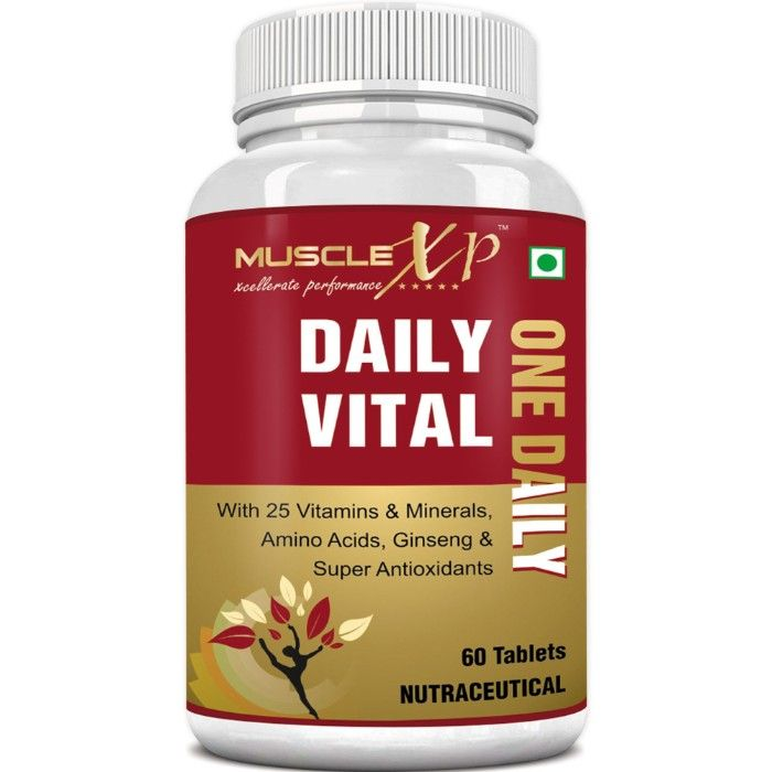 Musclexp Daily Vital Multivitamin With 25 Vitamins Minerals 5 Super Antioxidants Ginseng 60 Tablets