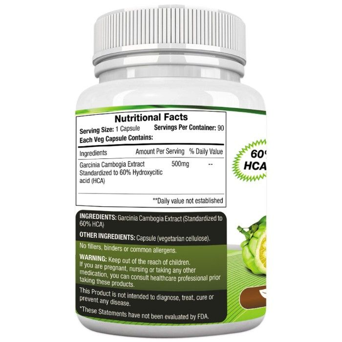 garcinia cambogia 800 mg dosage