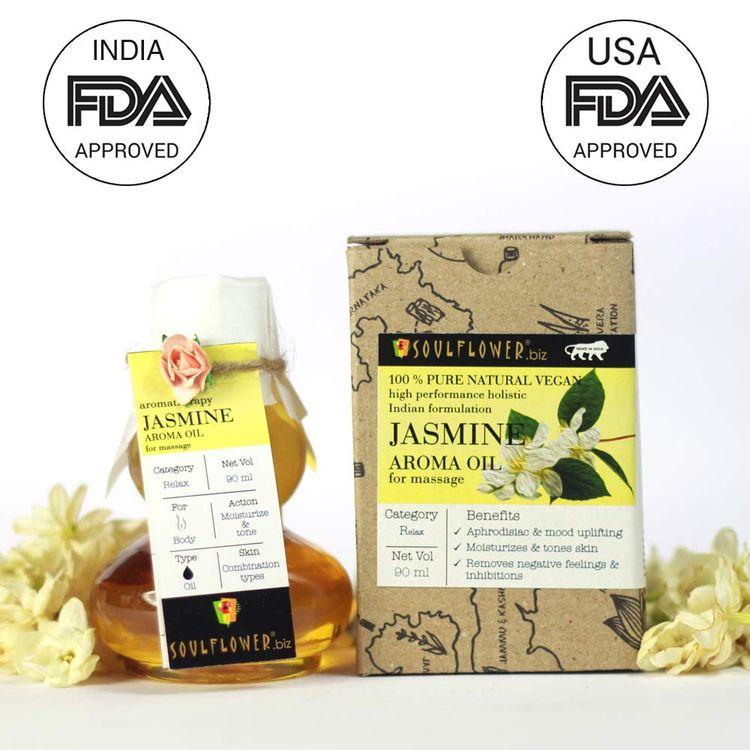 Buy Soulflower Jasmine Aroma Massage Oil (90 ml)-Purplle